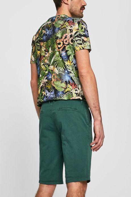 Szorty męskie regular zielone