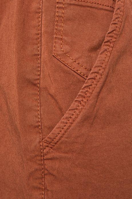 Szorty męskie regular brązowe