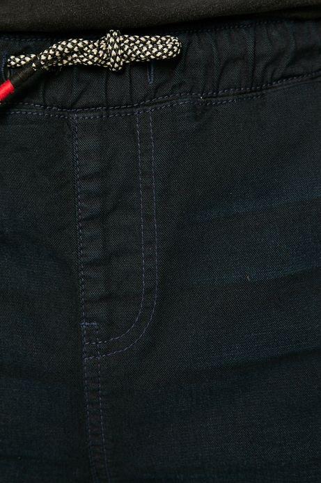 Szorty męskie ściągane troczkami czarne