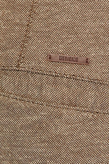 Szorty męskie lniane brązowe