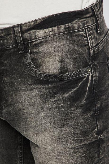 Szorty jeansowe męskie szare
