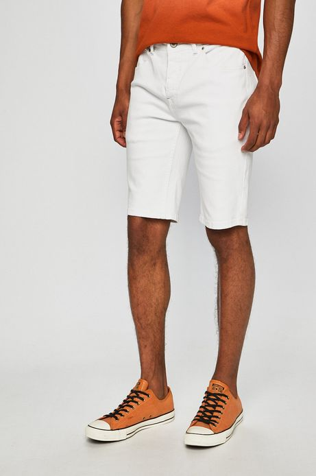 Szorty jeansowe męskie białe