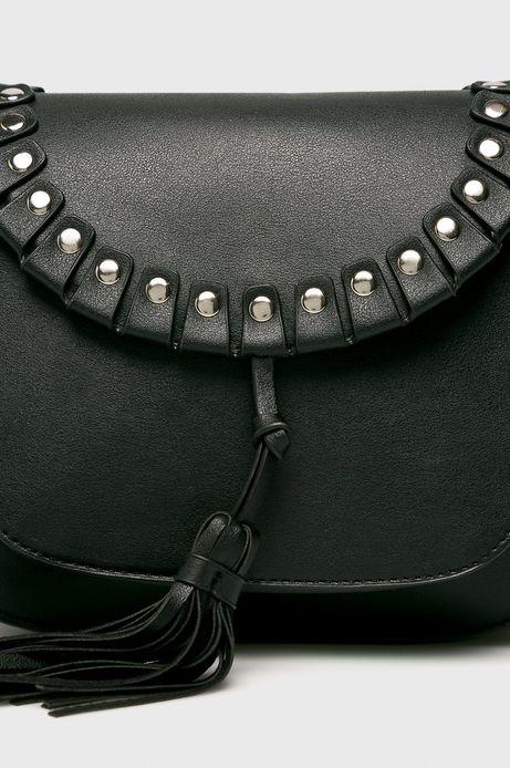 Torebka damska z ozdobnymi detalami czarna
