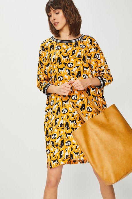 Torebka damska damska ze skóry ekologicznej żółta