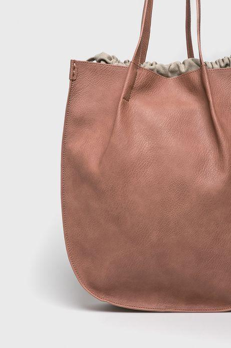 Torebka damska ściągana troczkami różowa