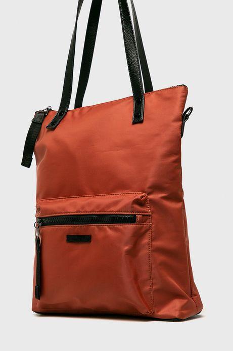 Torebka damska z funkcją plecaka pomarańczowa