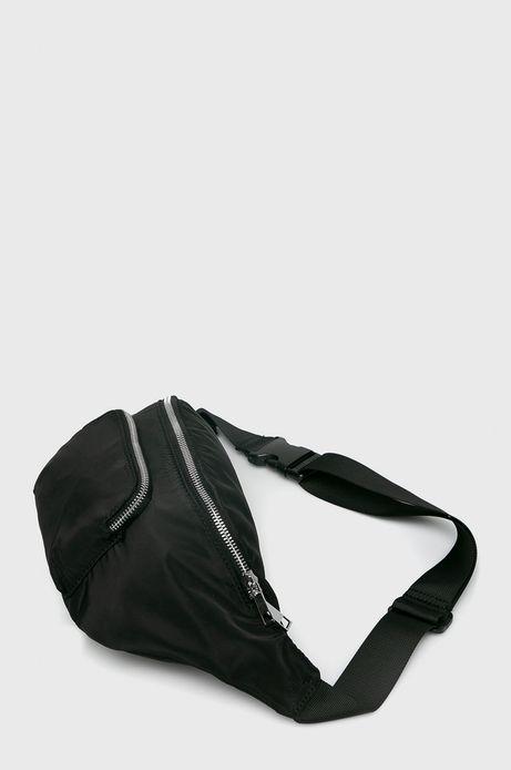 Nerka damska z materiału tekstylnego czarna