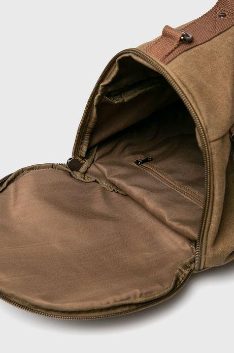 Torba męska z funkcją plecaka brązowa
