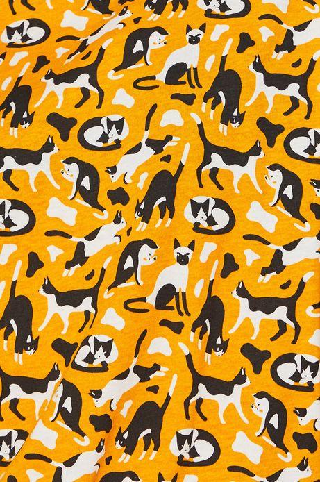 Top damski w koty żółty