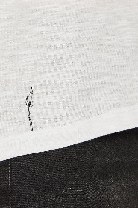 Top damski biały z nadrukiem