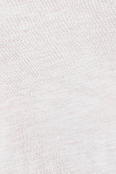 Top damski z ozdobnymi falbanami biały
