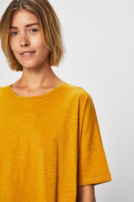 Top damski oversize żółty