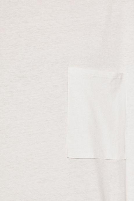 Top damski z kieszonką biały