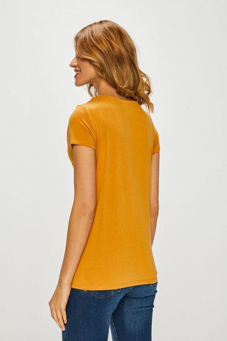 Top damski gładki żółty
