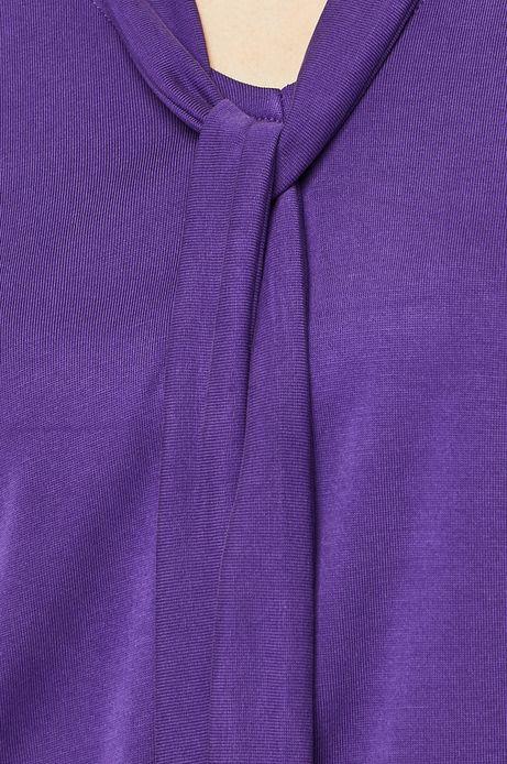 Top damski z wiązaniem przy szyi fioletowy