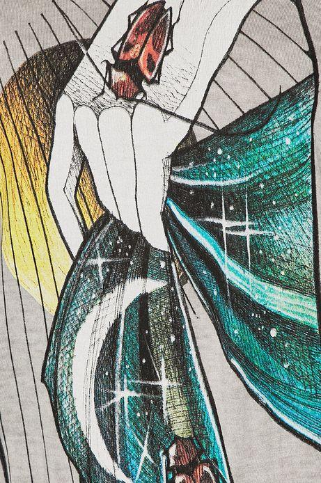 Top damski szary by Michalina Bolach, Falka Art