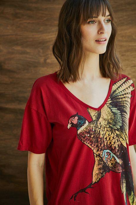 Top damski czerwony by Michalina Bolach, Falka Art