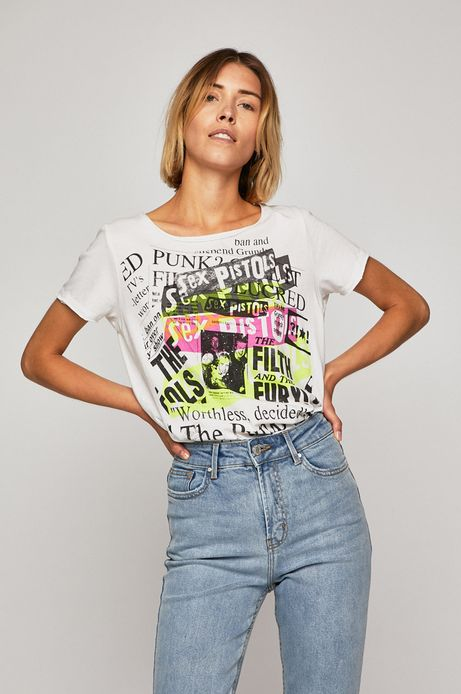 Top damski Sex Pistols biały