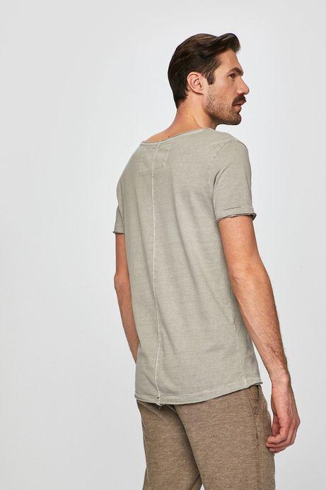 T-shirt męski z okrągłym dekoltem szary