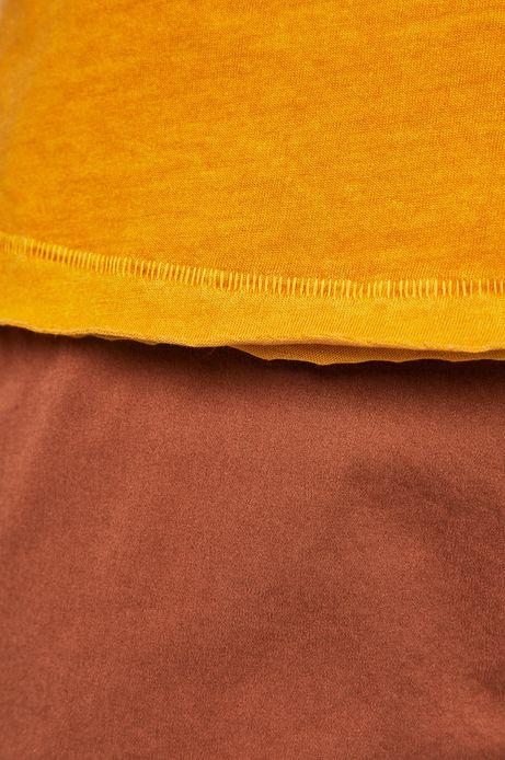 T-shirt męski z okrągłym dekoltem żółty