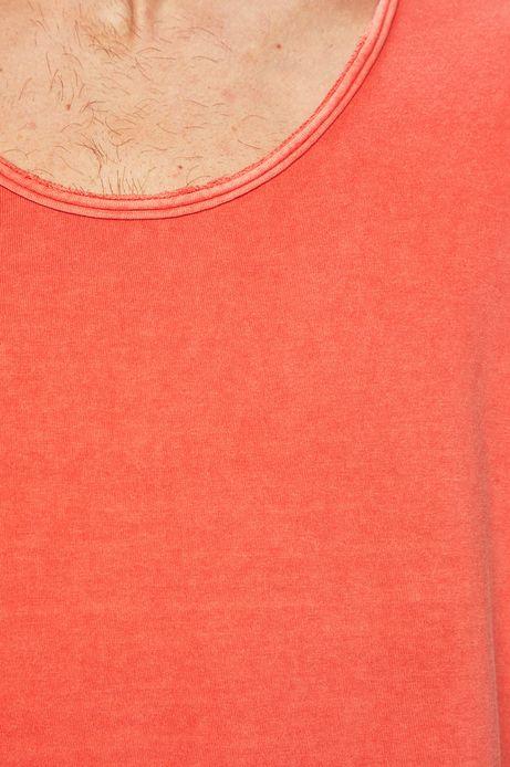 T-shirt męski z okrągłym dekoltem czerwony