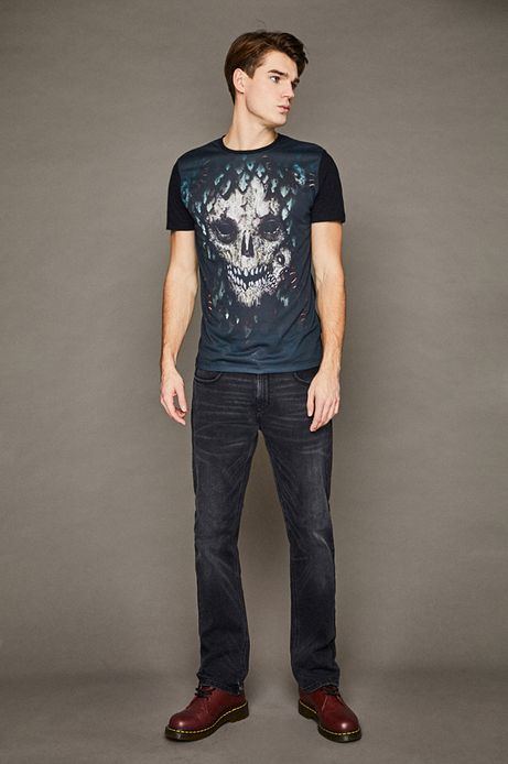 T-shirt męski by Dominik Broniek czarny