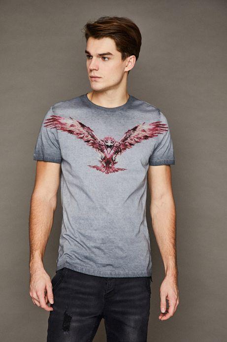 T-shirt męski by Dominik Broniek szary