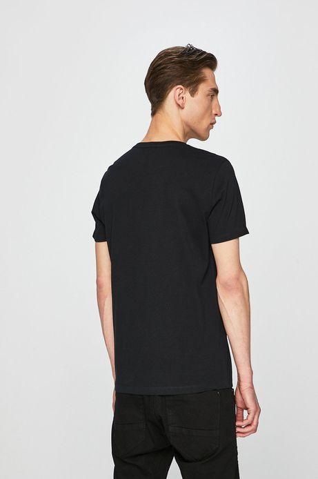 T-shirt męski z kolekcji Eviva L'arte z kieszonką czarny