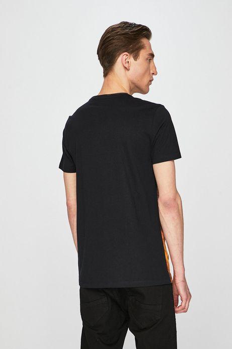 T-shirt męski z kolekcji Aviva L'arte z nadrukiem czarny