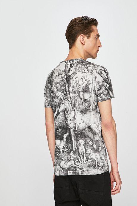 T-shirt męski z kolekcji Eviva L'arte wzorzysty biały