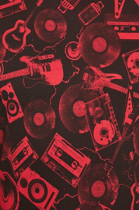 T-shirt męski wzorzysty czerwony