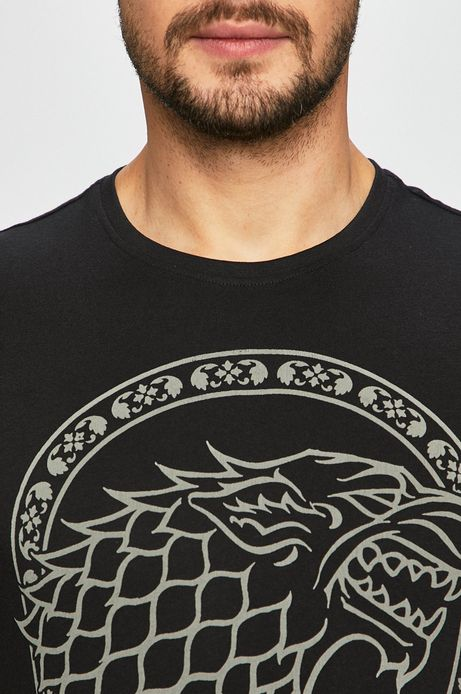 T-shirt męski Game of Thrones czarny