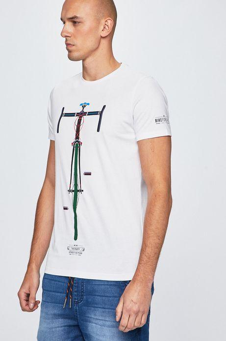 T-shirt męski Playful biały
