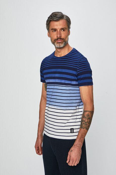 T-shirt męski w paski biały
