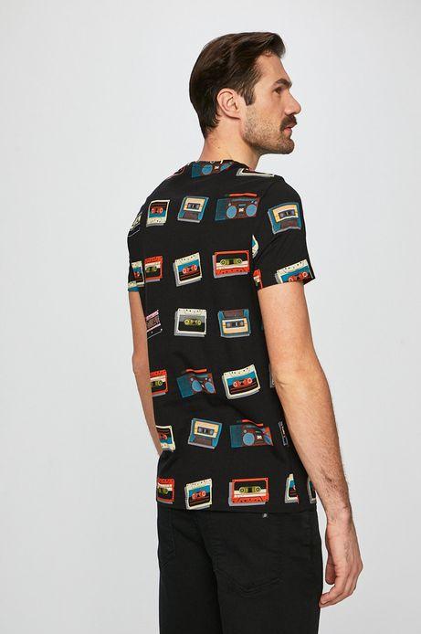 T-shirt męski by Justyna Frąckiewicz czarny