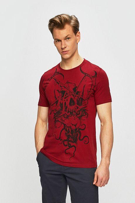 T-shirt męski by Piotr Bemben, Tattoo Konwent czerwony