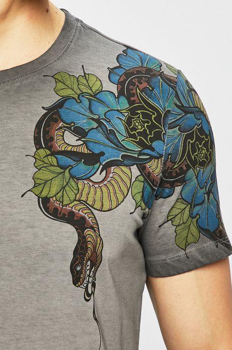 T-shirt męski Aleksandr Zbarskyi, Tattoo Konwent szary