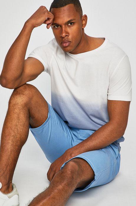 T-shirt męski cieniowany biały