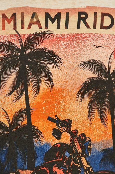 T-shirt męski z nadrukiem pomarańczowy