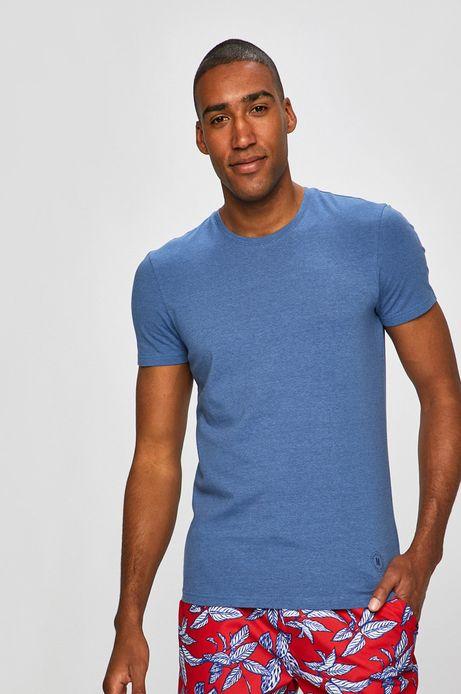 T-shirt męski z okrągłym dekoltem niebieski