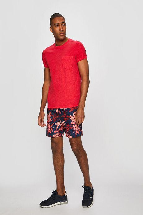 T-shirt męski z kieszonką czerwony