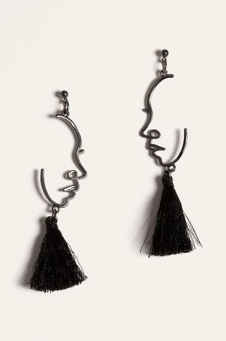 Kolczyki damskie z frędzlami czarne