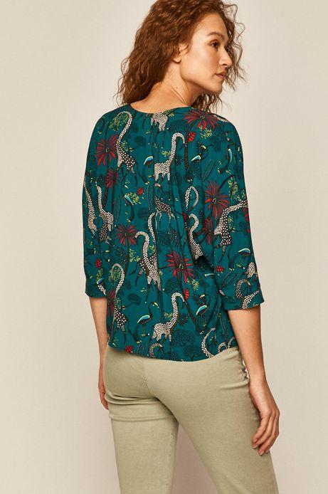 Bluzka damska z kimonowymi rękawami zielona