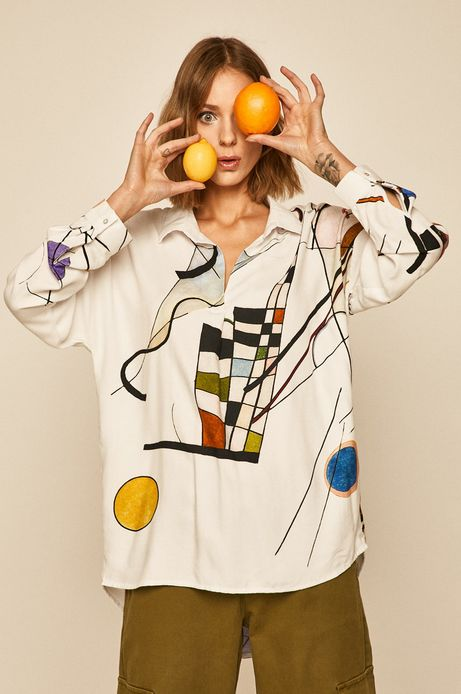 Koszula damska Eviva L'arte wzorzysta