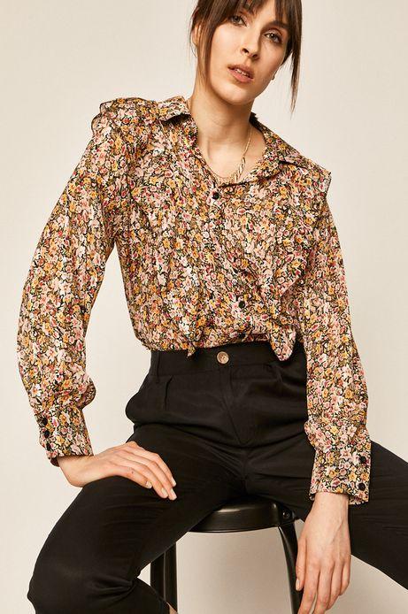 Koszula damska z falbanką w kwiatki