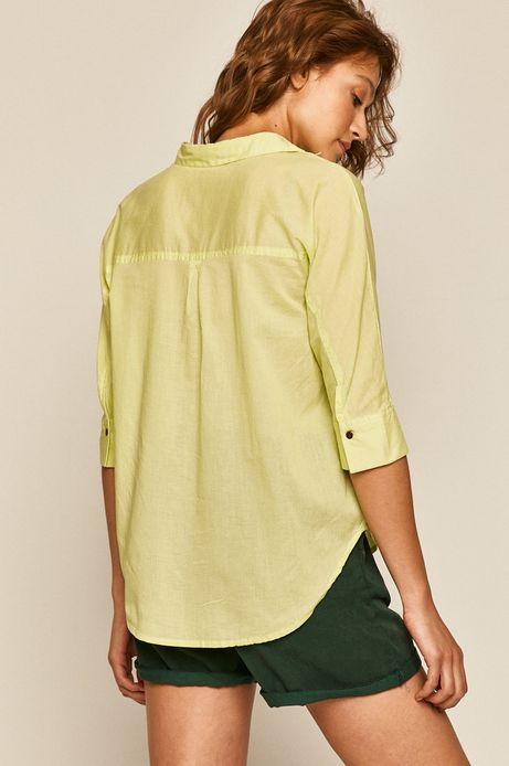 Bluzka damska z rękawami 3/4 zielona