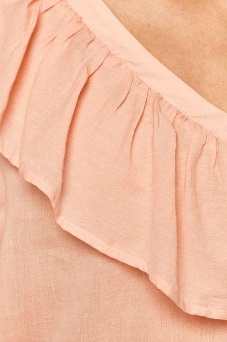 Bluzka damska z falbanką różowa