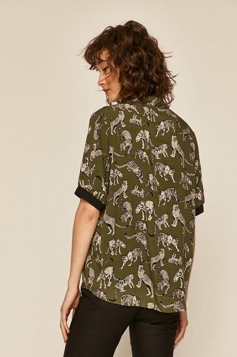 Bluzka damska wzorzysta zielona