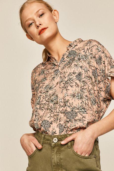 Koszula damska wzorzysta różowa