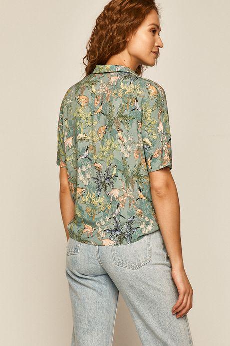 Koszula damska turkusowa